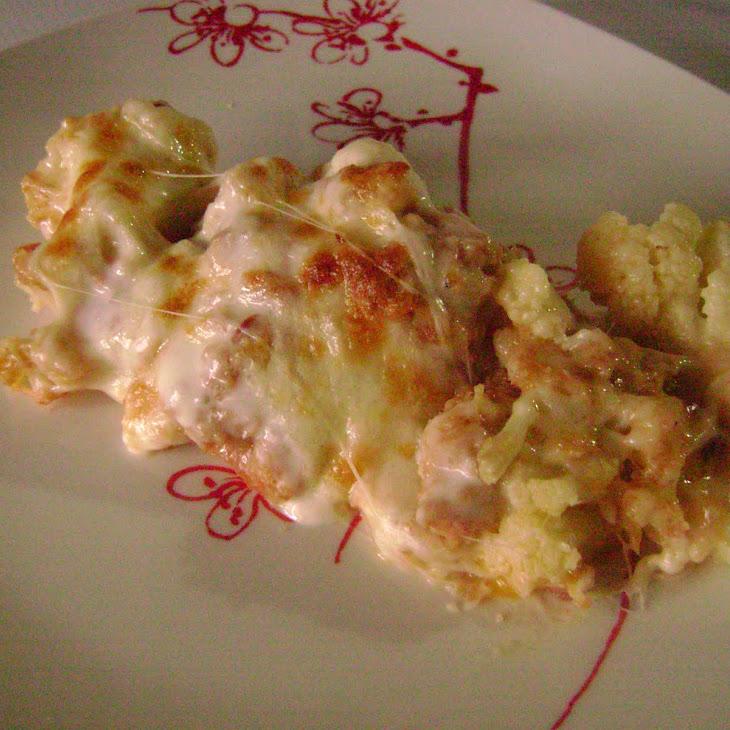 Cauliflower and Alheira Sausage Gratin