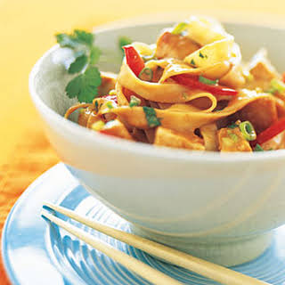 Peanut Noodles with Chicken.