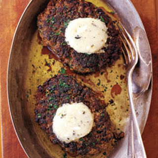 Chopped Sirloin with Blue Cheese Butter