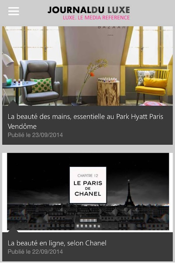 journal du luxe android apps on google play. Black Bedroom Furniture Sets. Home Design Ideas