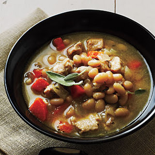 Pork and Herbed White Beans.