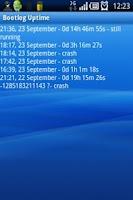 Screenshot of Bootlog Uptime