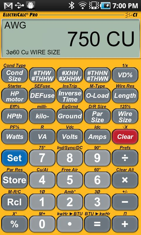 Download electricalc pro calculator apk 12001 by calculated electricalc pro calculator screenshots keyboard keysfo
