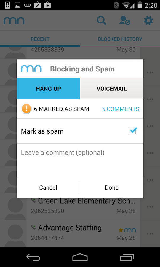 Mr. Number-Block calls & spam- screenshot