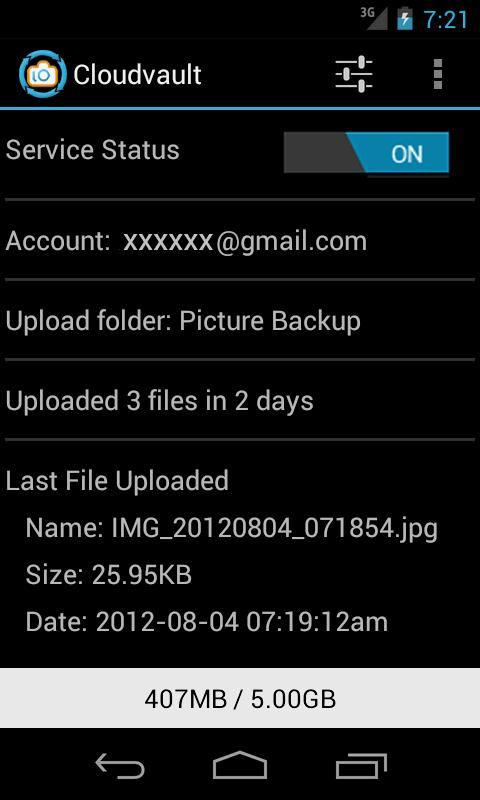 CloudVault Photo Uploader - screenshot