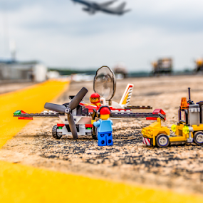 At the Airport by Aulander Skinner - Artistic Objects Toys ( airport, minature, plane, toy )