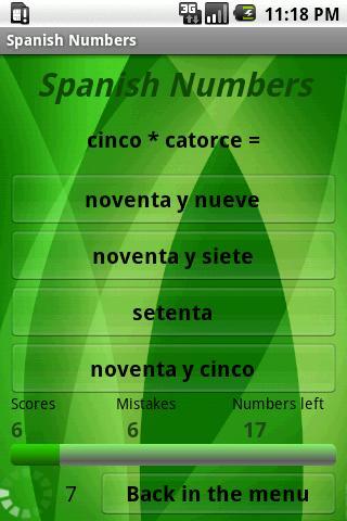 Learn Spanish Numbers- screenshot