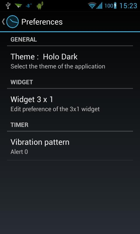 Holo Alarm, Timer, Chrono - screenshot