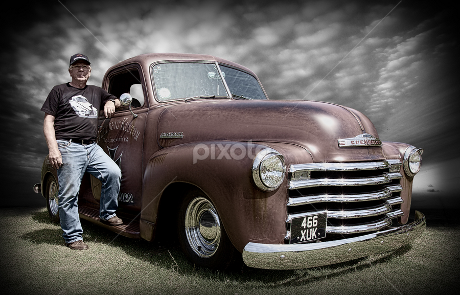 The Chevy Owner by Phil Portus - Transportation Automobiles ( july 14 2013, didsbury park, 2013, hdr automobile, manchester, didsbury classic car show 2013 )
