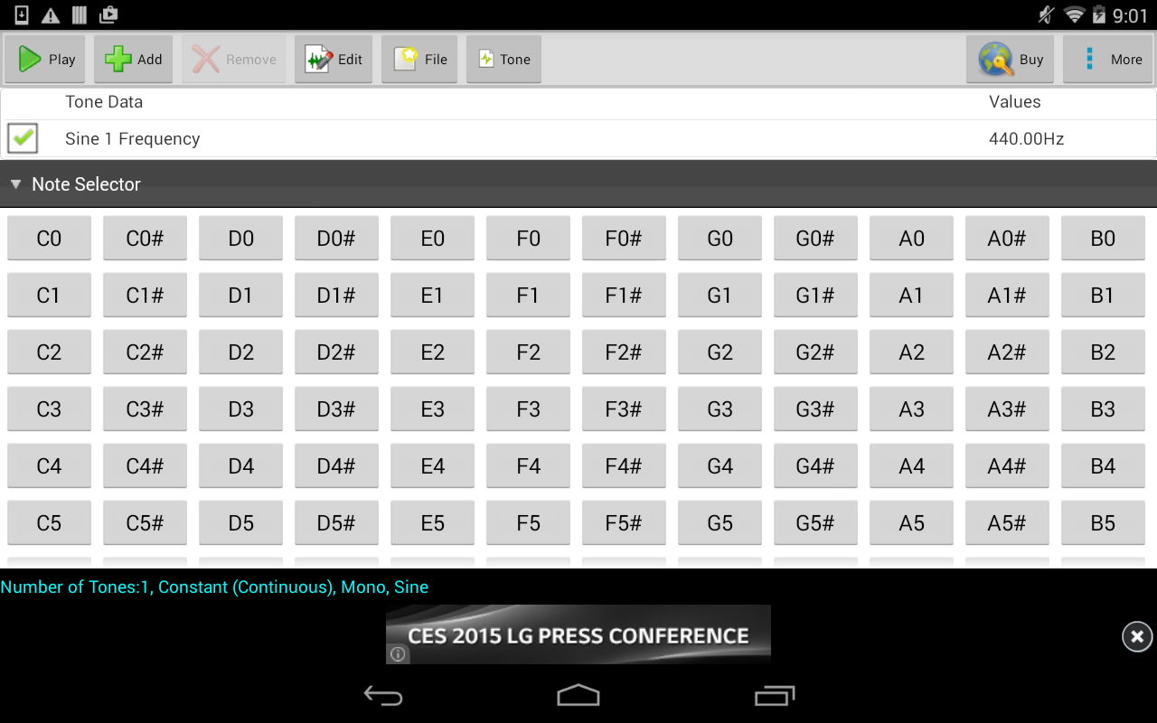 Audio Frequency Generator : Tonegen tone generator free android apps auf google play