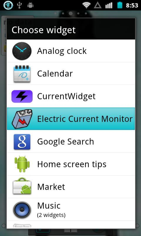 Electric Current Monitor - screenshot