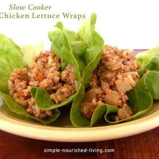 Slow Cooker Asian Chicken Lettuce Wraps.