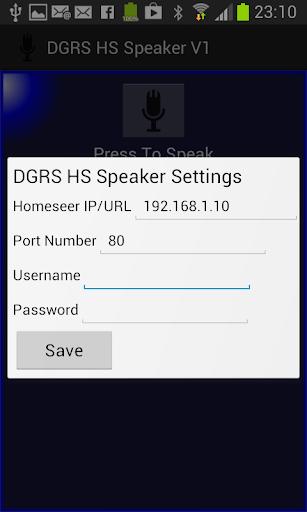 DG Homeseer Speaker Client