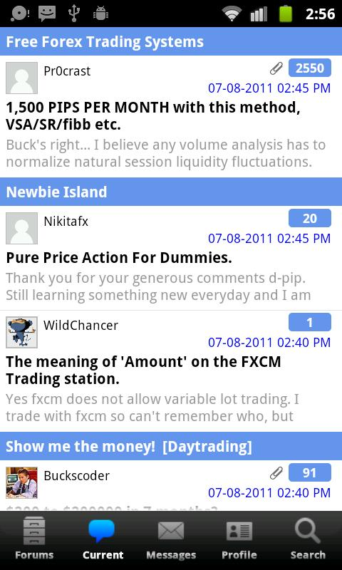 BabyPips.com Forex Forum - screenshot