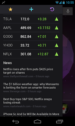 Stock Market Sidebar Beta