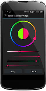 Jelly Bean Clock Widget - screenshot thumbnail