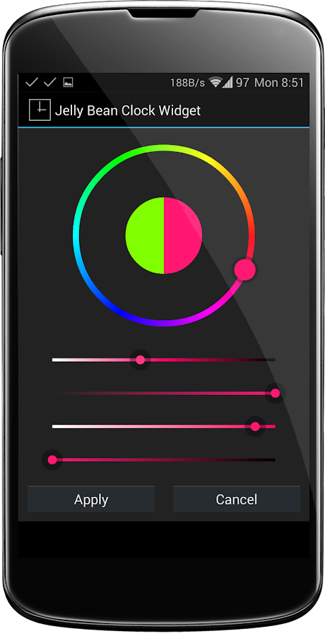 Jelly Bean Clock Widget- screenshot