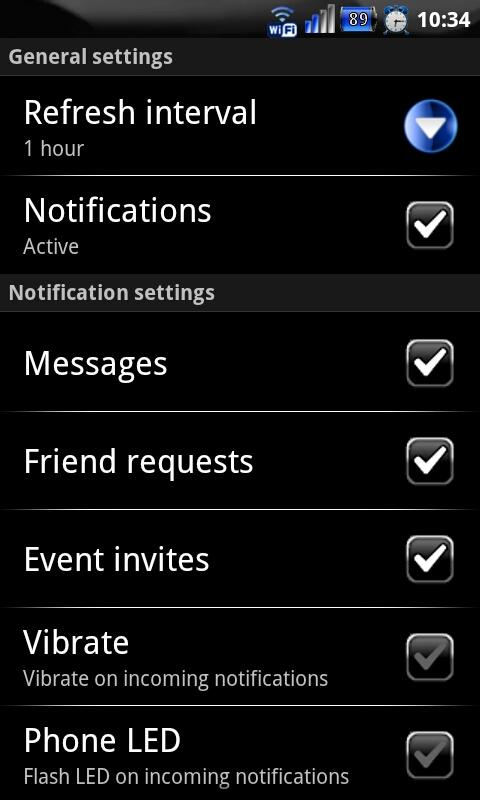 Blue Socialize for Facebook - screenshot