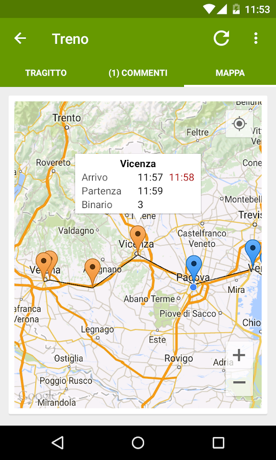 Train Timetable Italy PRO - screenshot