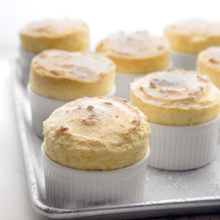 Miniature Grapefruit Souffles with Ginger.