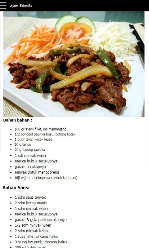 Variasi Resep Masakan Untuk Anak