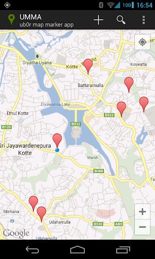 UMMA - the ub0r map marker app