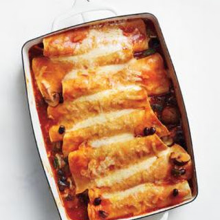 Enchiladas with Mushrooms, Beans, and Cheese Recipe