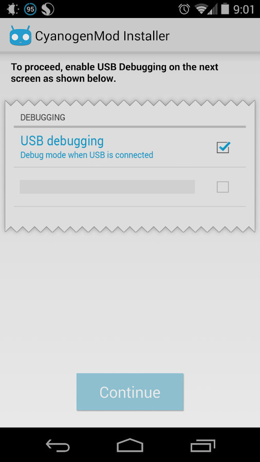 CyanogenMod Installer - screenshot