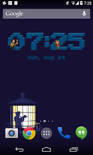 Doctor Who Pixel Clock Widget