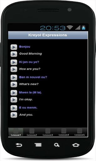 App Kreyòl: Expressions