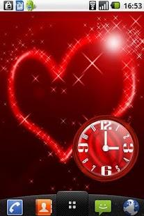 Nice Red Clock Widget.