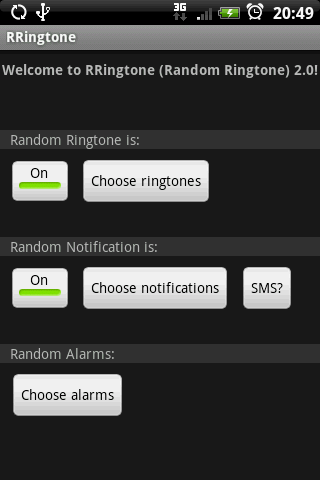 RRingtone - screenshot
