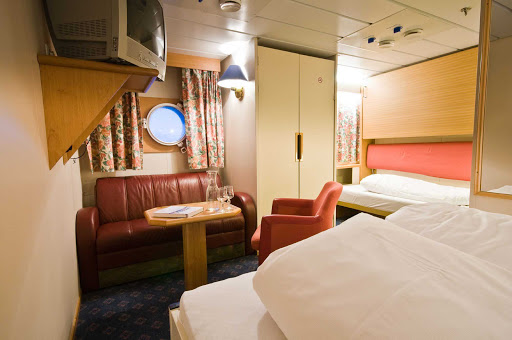 A cabin aboard Hurtigruten's Vesteralen. With Hurtigruten expeditions, it's mostly about the destinations.