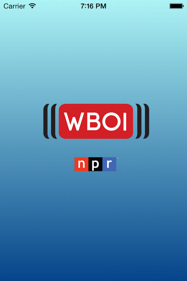 WBOI Public Radio App- screenshot