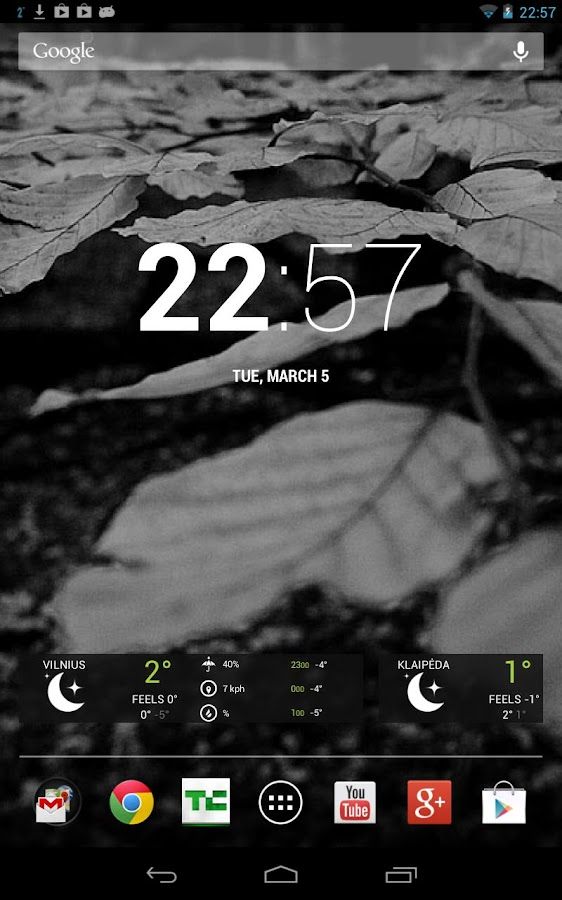 Free Dark Wood Theme HD - screenshot