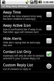 Txt Msg Away Message - screenshot thumbnail