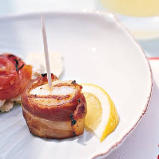 Grilled Scallops Wrapped in Prosciutto.