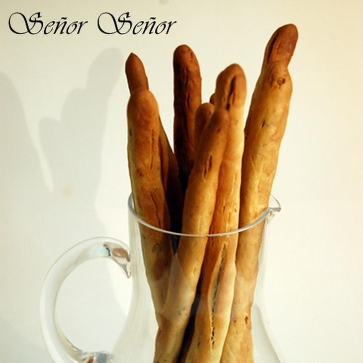 Homemade Sunflower Seed Crunchy Breadsticks