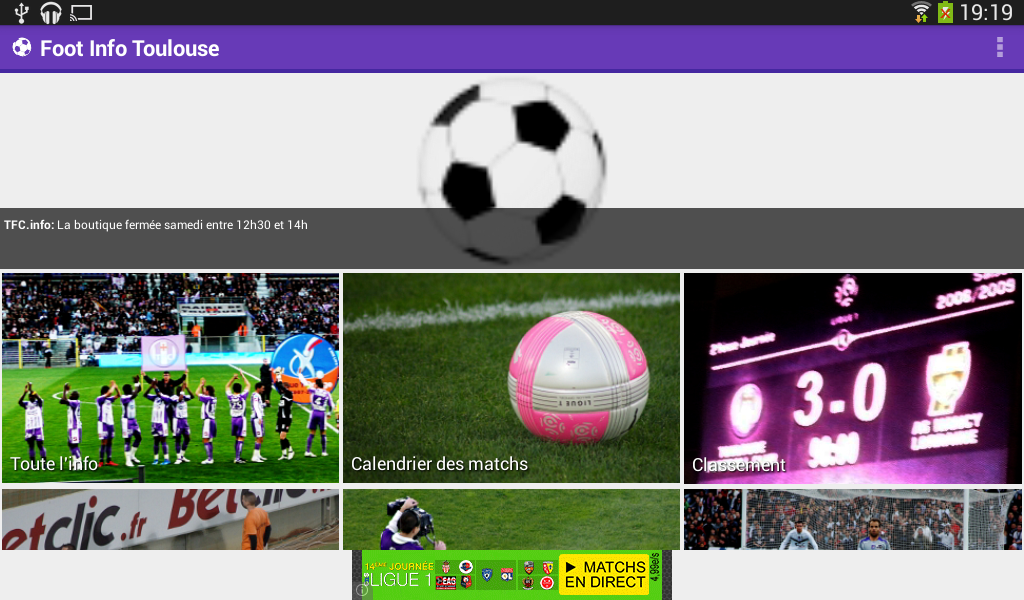 Foot Info Toulouse - screenshot