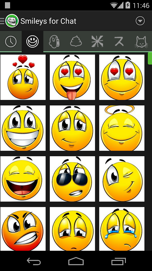 Smileys and Memes for Chat - screenshot
