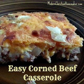 Corned Beef Casserole Recipe ~ A Simple Breakfast FAST!.