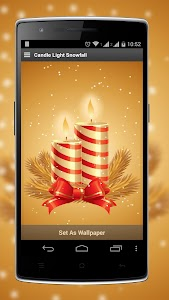Candle Light Snowfall LWP screenshot 0