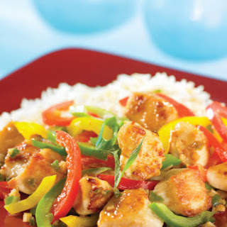 Chicken Stir Fry with Sweet and Hot Peppers