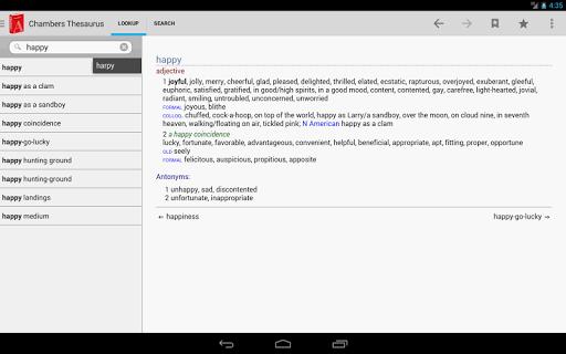 【免費書籍App】Chambers Thesaurus-APP點子