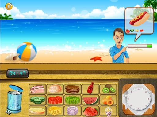 해변의 레스토랑 요리사