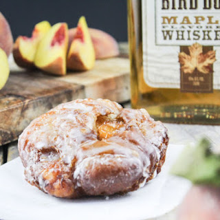 Maple Peach Whiskey Fritters.