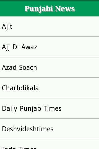 Punjabi Newspaper Site List