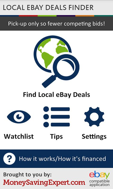 Local Ebay Deals Finder - screenshot