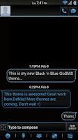Screenshot of Black 'n Blue GoSMS Theme