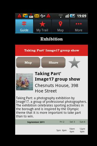 E17 Art Trail 2011 - screenshot